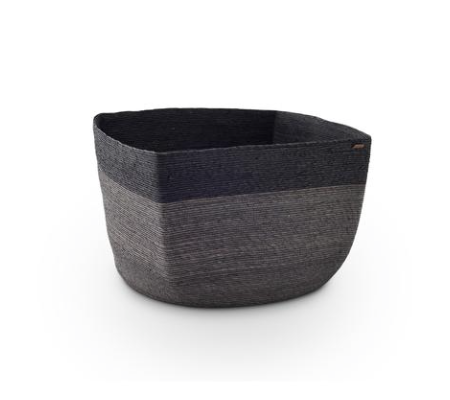 Far + Wide stripe square basket - dark grey