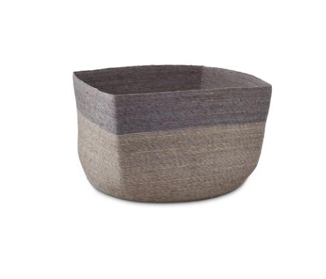Far + Wide stripe square basket - light grey