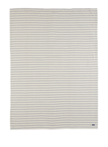FARIBAULT cotton beacon stripe throw - navy