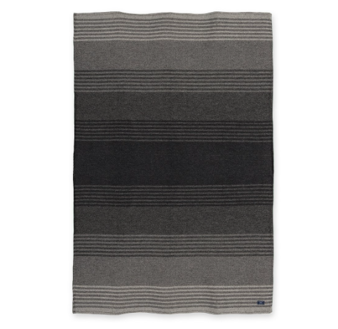 FARIBAULT eco cotton linear stripe throw - gray