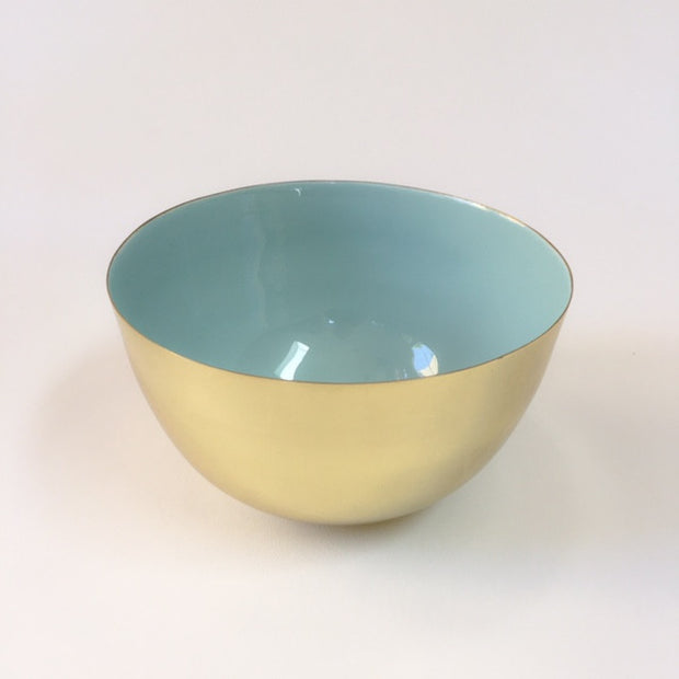 HAWKINS louise brass bowl - extra small, mint