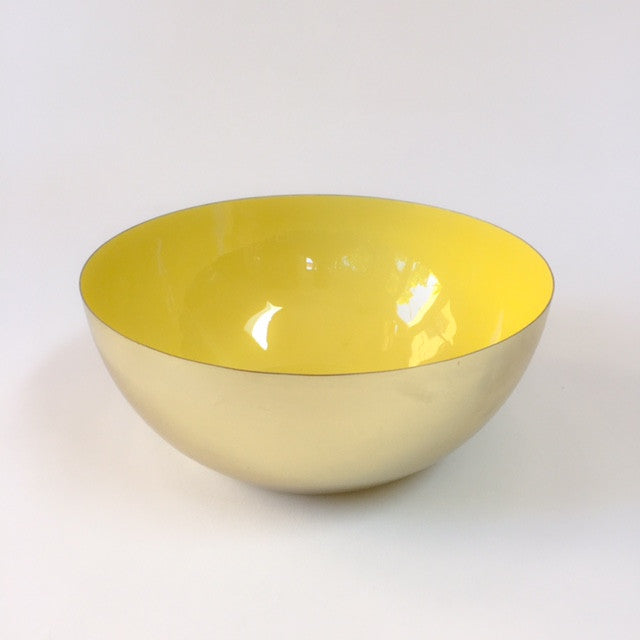 HAWKINS louise brass bowl - medium, yellow