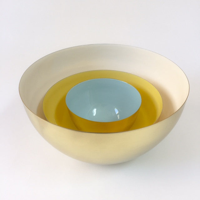 HAWKINS louise brass bowl - extra large, white