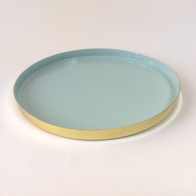 HAWKINS louise brass tray - large, mint