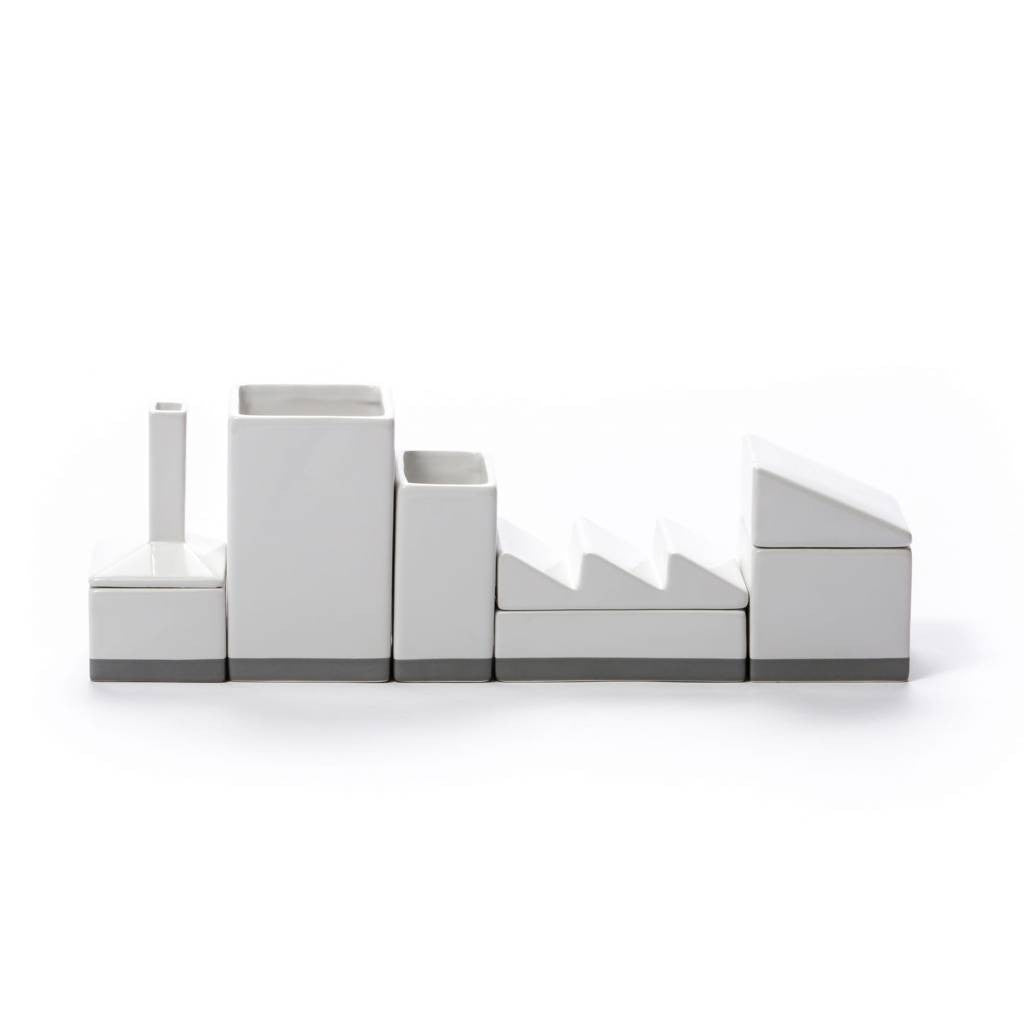 SELETTI the warehouse porcelain desk organizer