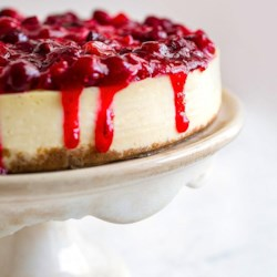 Cranberry Lime Cheesecake