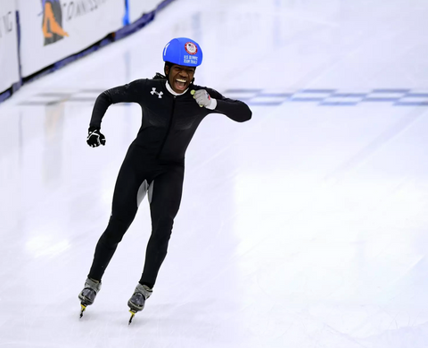 Maame Biney is 1st African American woman to qualify for US Olympic Speed Skating team