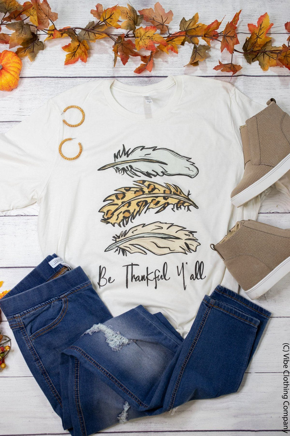 Be Thankful Graphic Tee graphic tees Mark tee