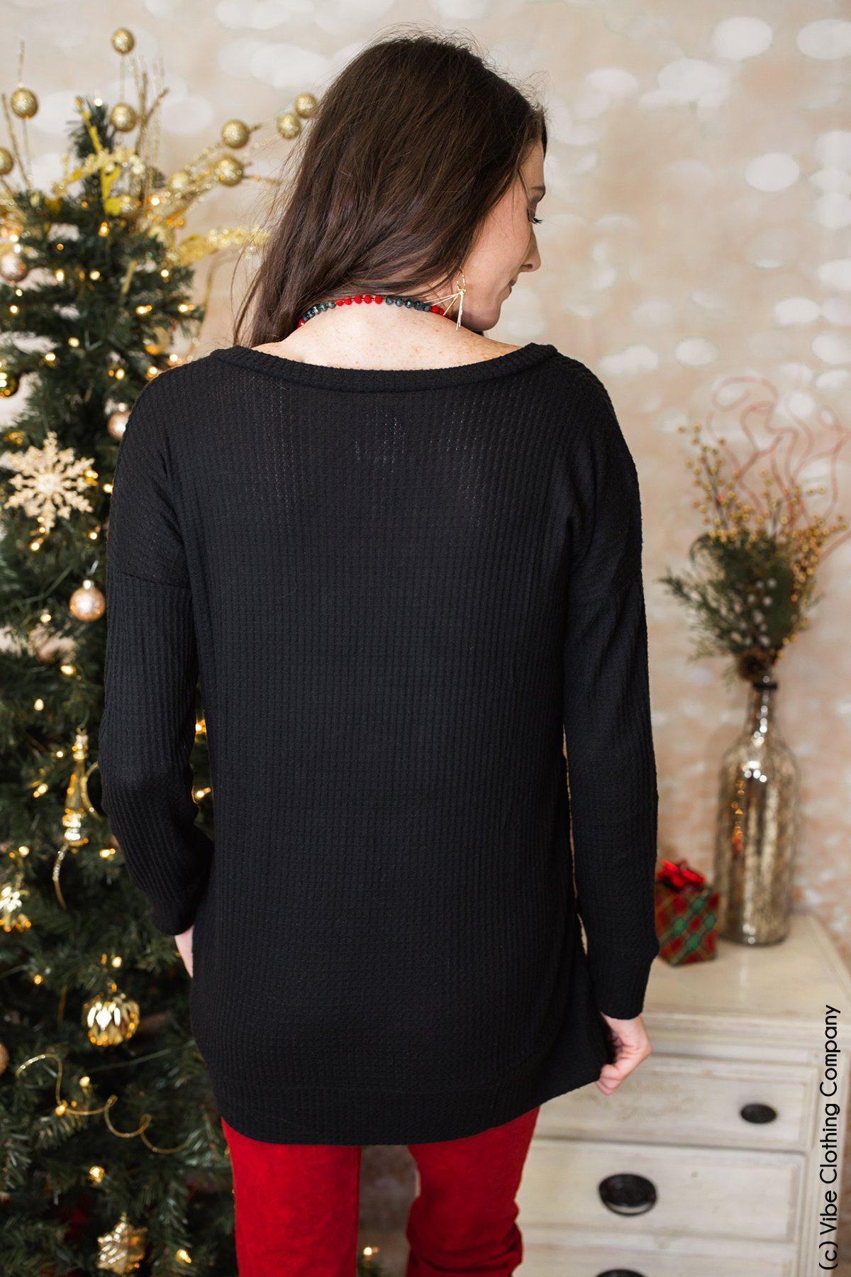 Here You Come Again Thermal - Black Tops 2475