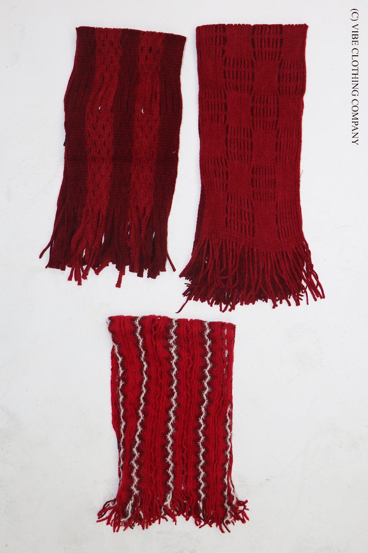 Crochet Infinity Scarf- Cabernet Collection door buster Vibe Clothing Company