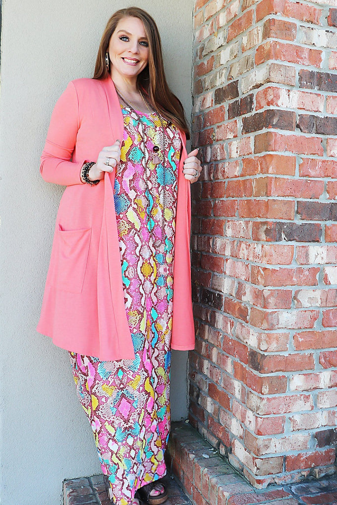 CANDEE Reptile Maxi - Bright Dress nad!a