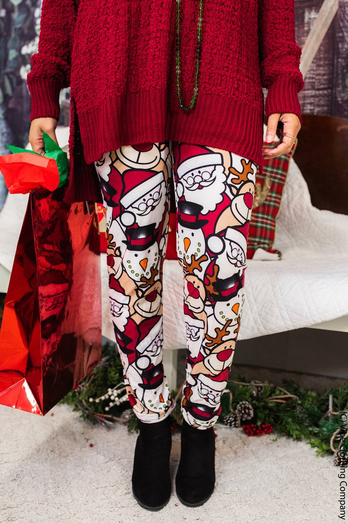 Christmas Friends Leggings