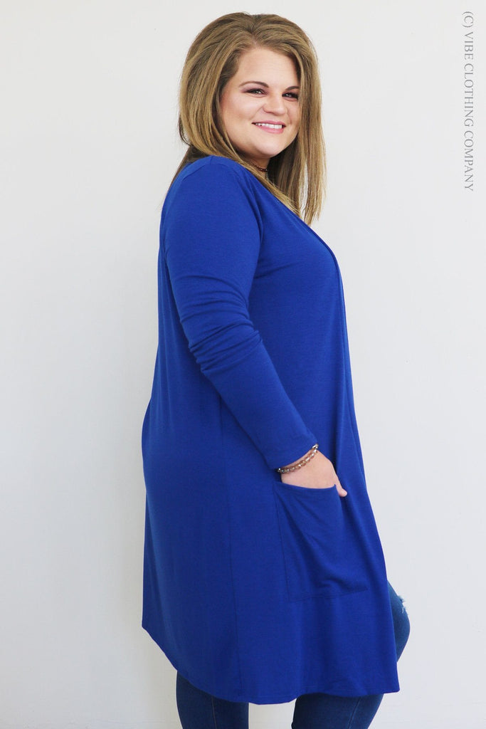 CLARA Cardigan - Soft Royal
