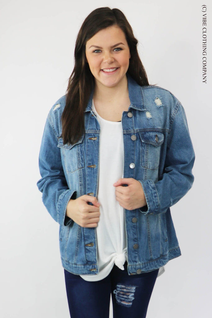Dani Denim Bomber Jacket