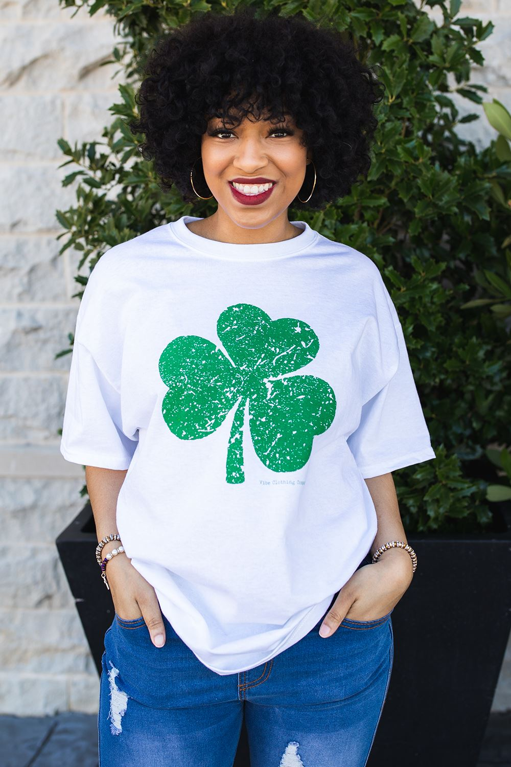 Distressed Shamrock Graphic Tee graphic tees Mark tee