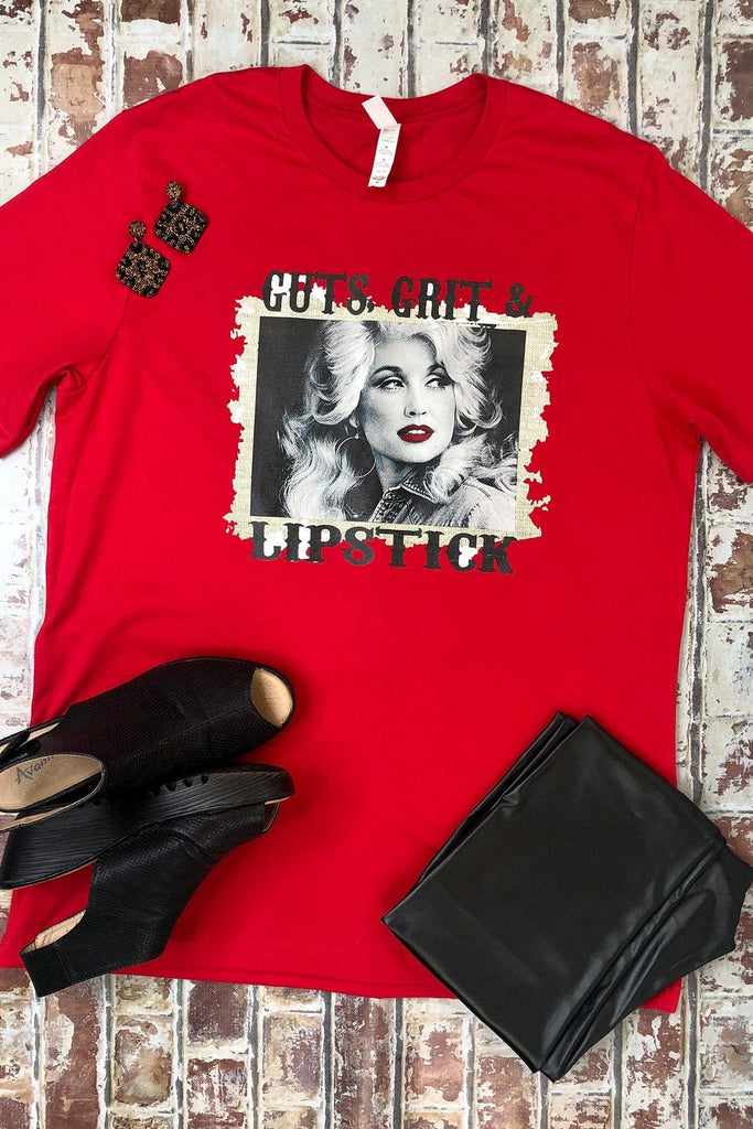 Dolly & Lipstick Graphic Tee