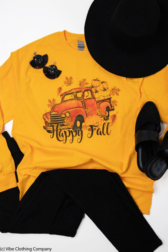 Fall Pumpkin Truck Graphic Tee