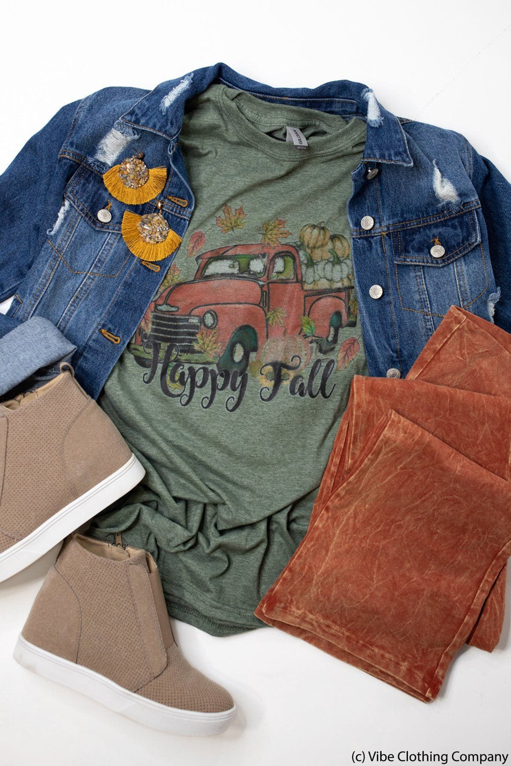 Vintage Fall Truck Graphic Tee