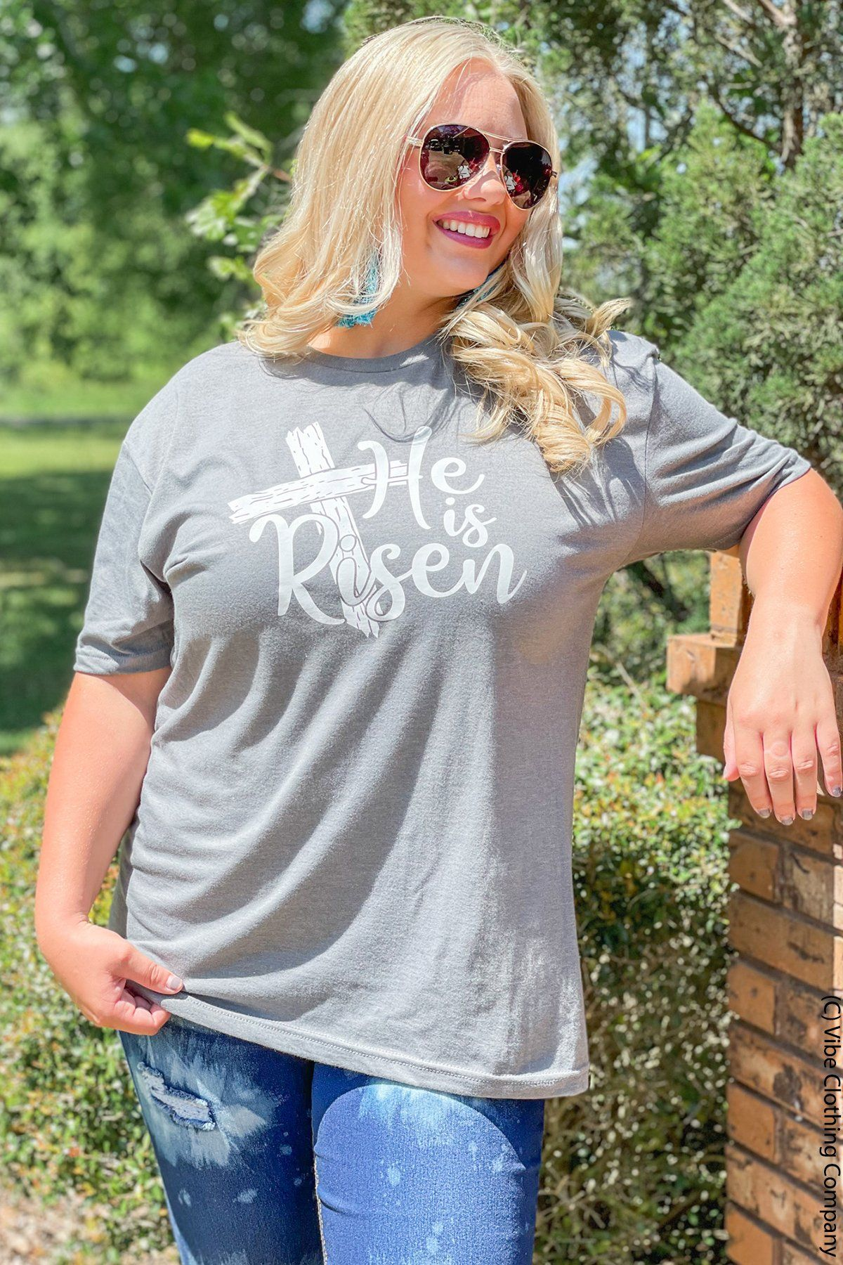 HE is Risen Graphic Tee graphic tees Mark tee