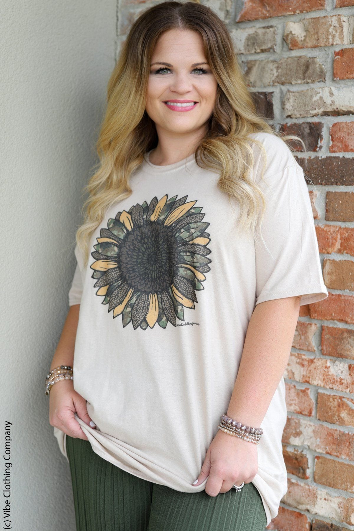 Camo Sunflower Tee graphic tees Mark tee XL