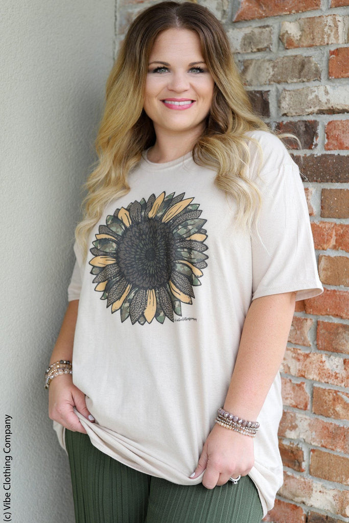 Camo Sunflower Tee