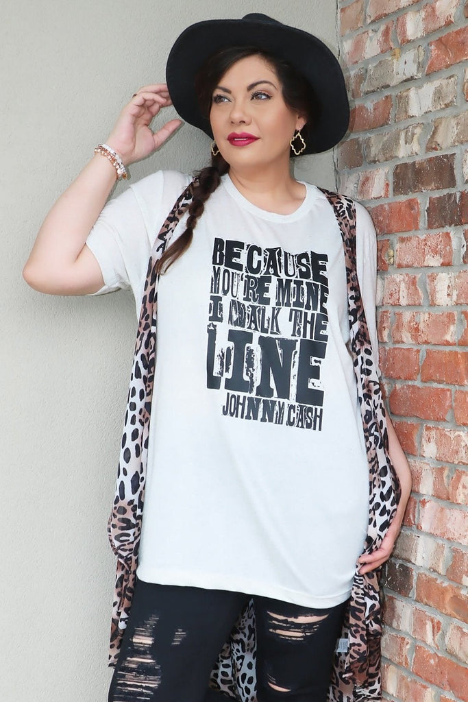 Walk the Line Graphic Tee graphic tees Mark tee