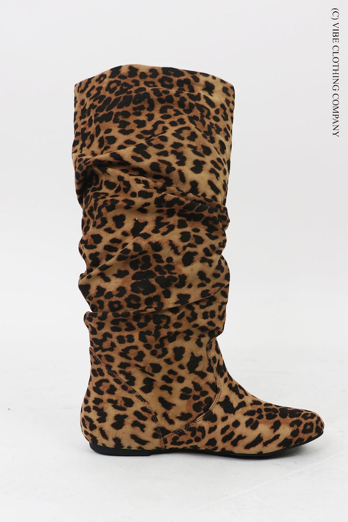 LaLa Leopard Boots