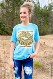 Cowboy Lips Graphic Tee graphic tees Mark tee Medium Turquoise Bleached