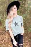 Lone Star Graphic Tee graphic tees Mark tee Small Olive