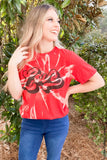 Retro Love Graphic Tee graphic tees Mark tee Small Red Bleached