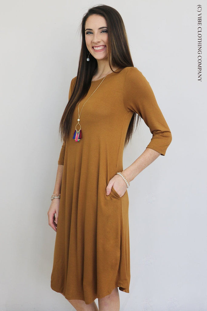 MALEY Dress - Honey