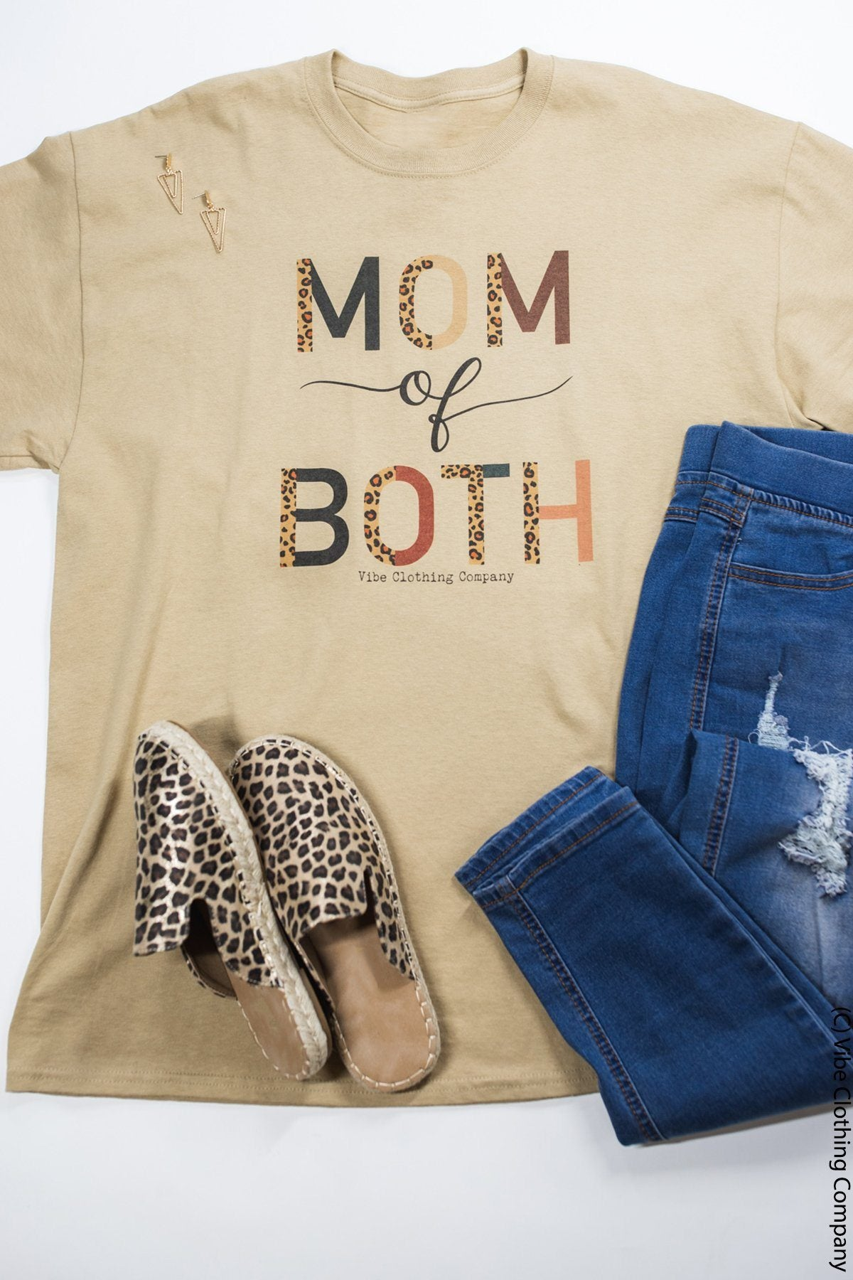 MoM of Both Graphic Tee graphic tees Mark tee Small Sandy Tan