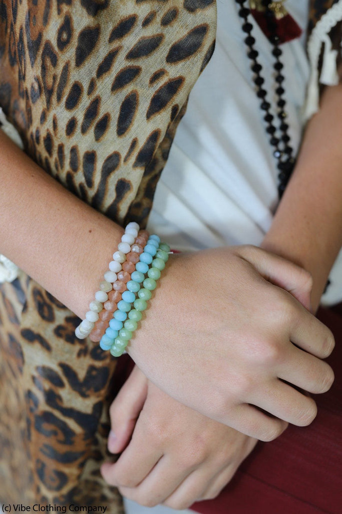 This Love Bracelet Set of 4 by ViVi Liam Jewelry & Accessories ave zoe Pastel Multi