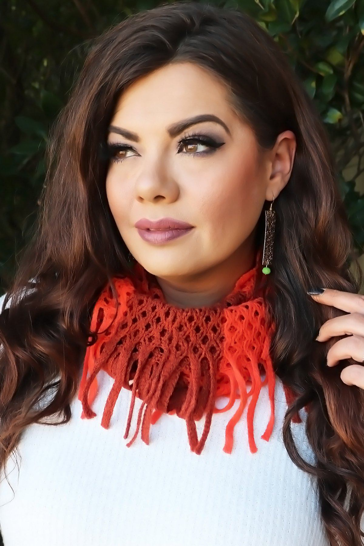 Crochet Infinity Scarf- Spice Collection door buster Vibe Clothing Company