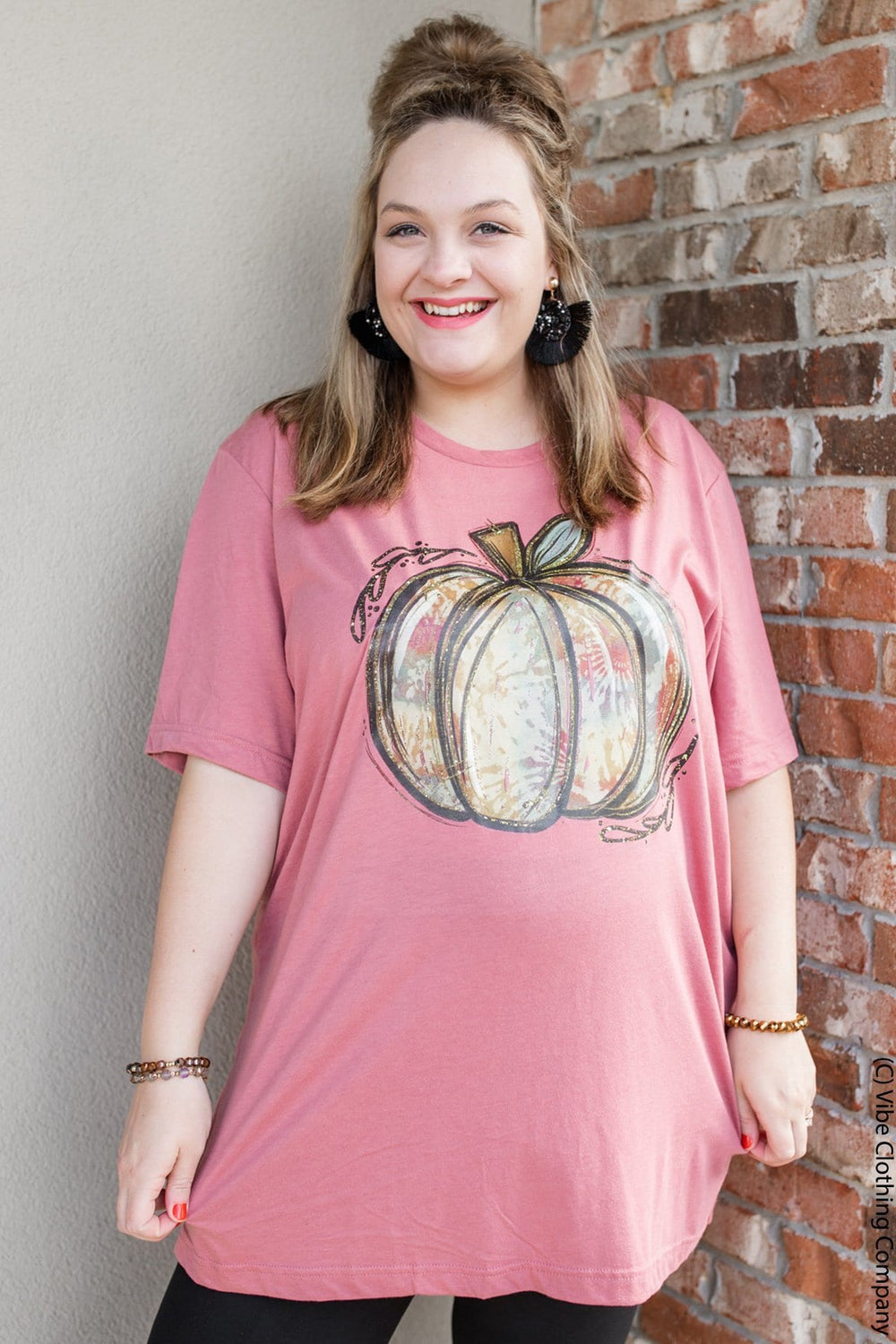 Floral Pumpkin Graphic Tee graphic tees Mark tee