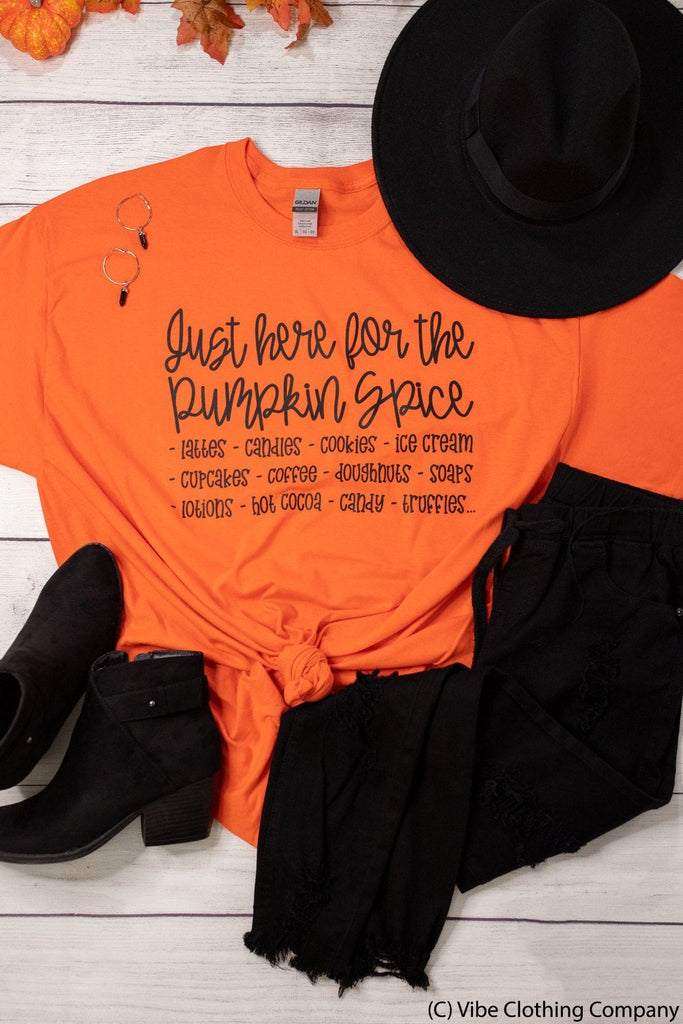 I'm Here for Pumpkin Spice Graphic Tee graphic tees Mark tee