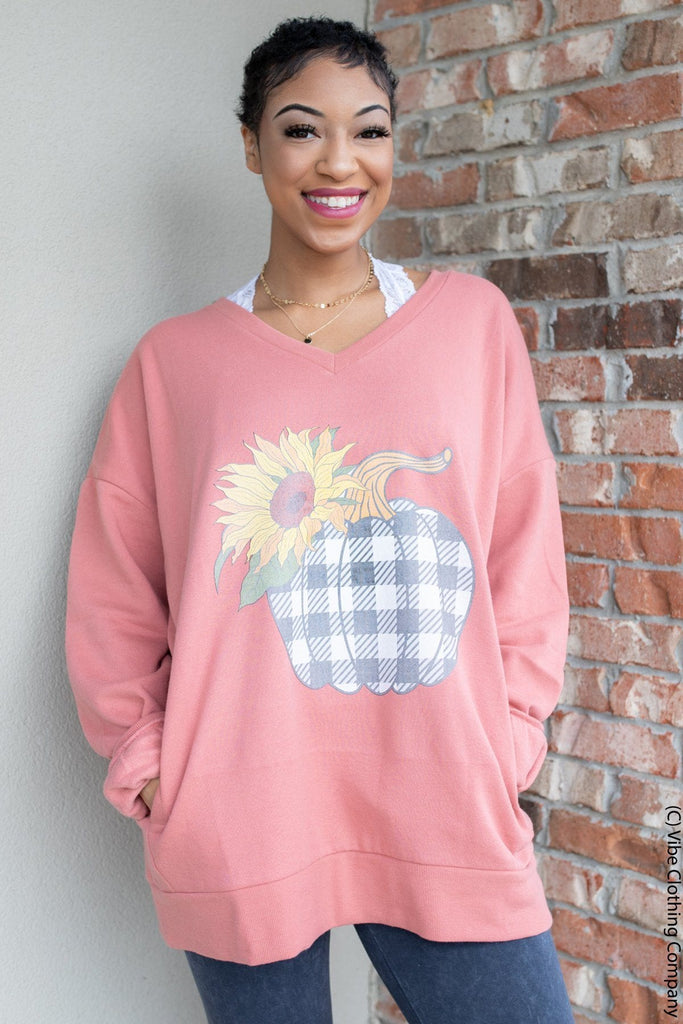 Sunflowers & Pumpkins Sweatshirt
