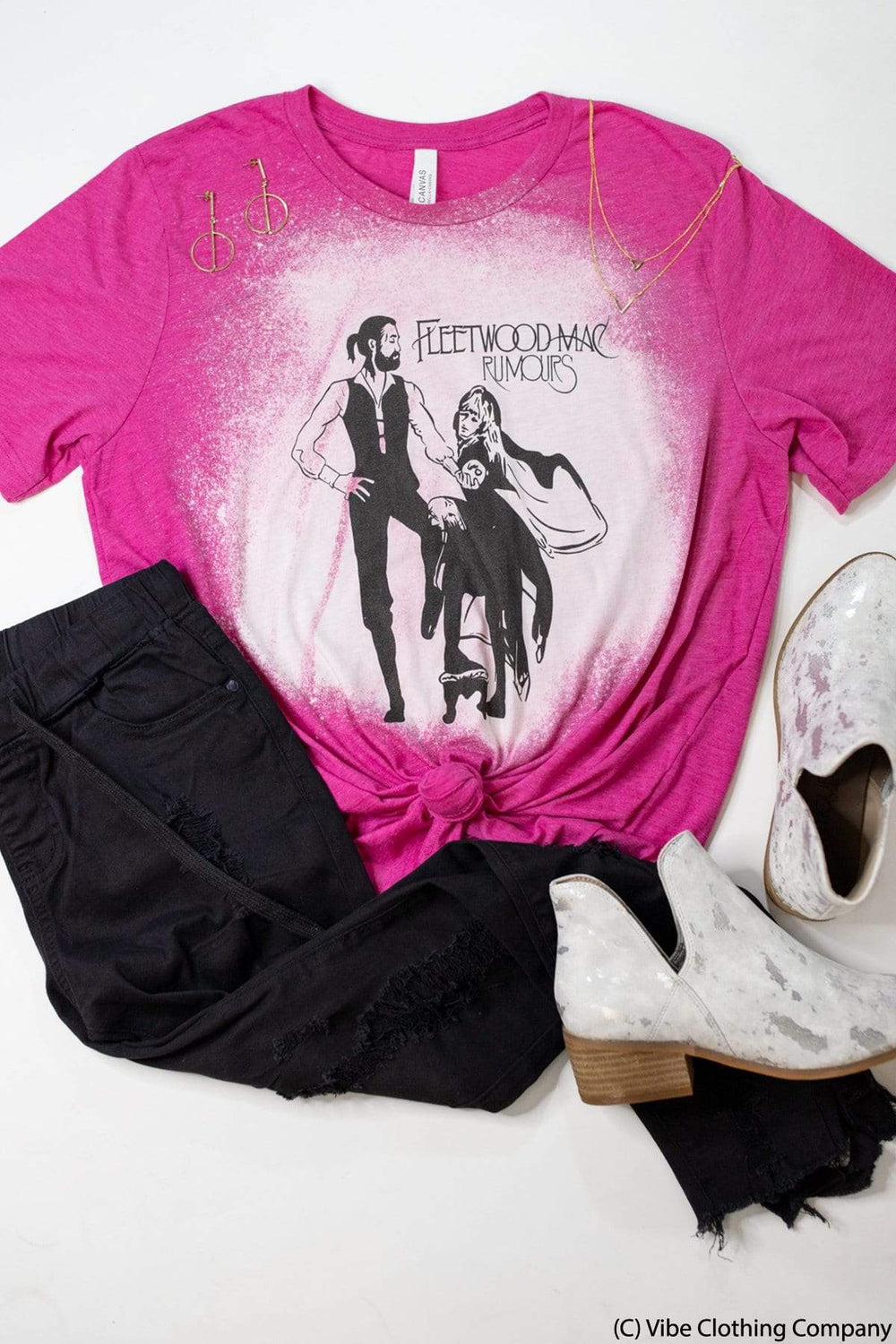 Rumors Graphic Tee graphic tees Mark tee Small H Pink