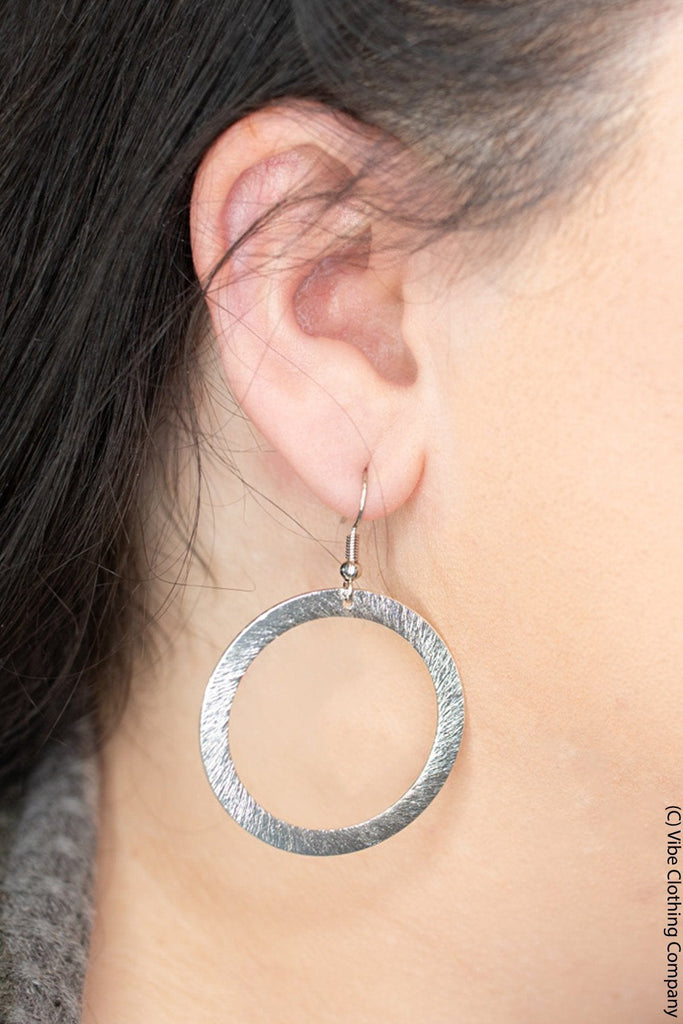 Silver Circles Earrings Jewelry vivi