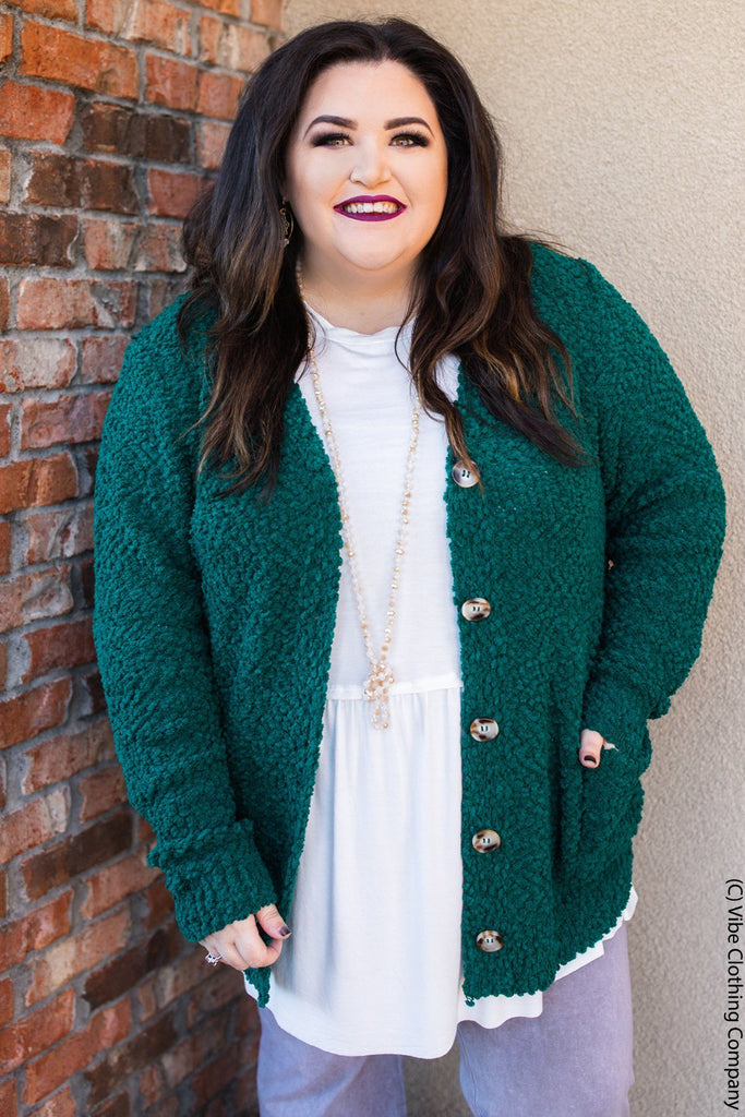 Take Me Home Tonight Cardigan - Evergreen