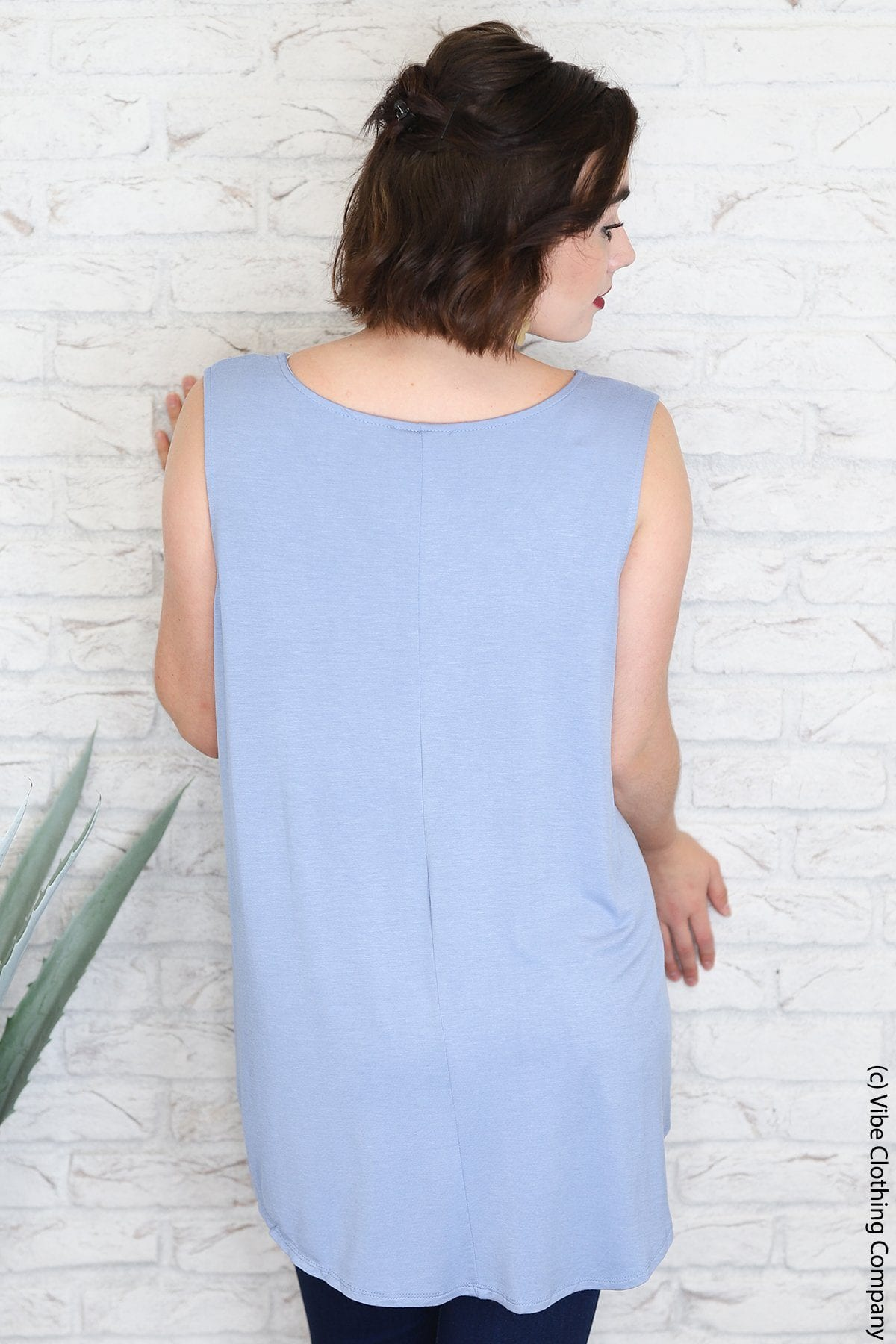 TAMALYN Tank - Bubble Blue BASICS ash mocha 2100