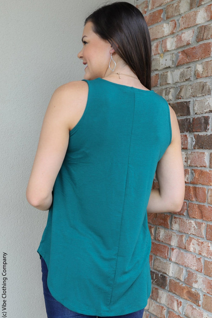 TAMALYN Tank - Pine BASICS deep Green