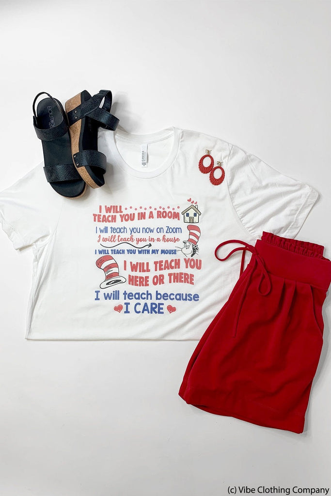 Dr Seuss Teacher Graphic Tee