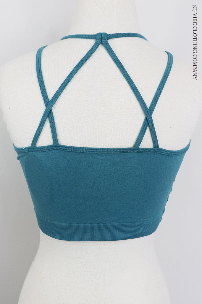 JUPITER Bralette (padded) - Dusty Teal accessories Vibe Clothing Company