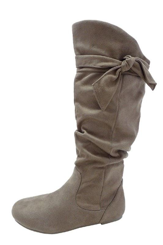 Betty Boots - Wide Calf - Taupe