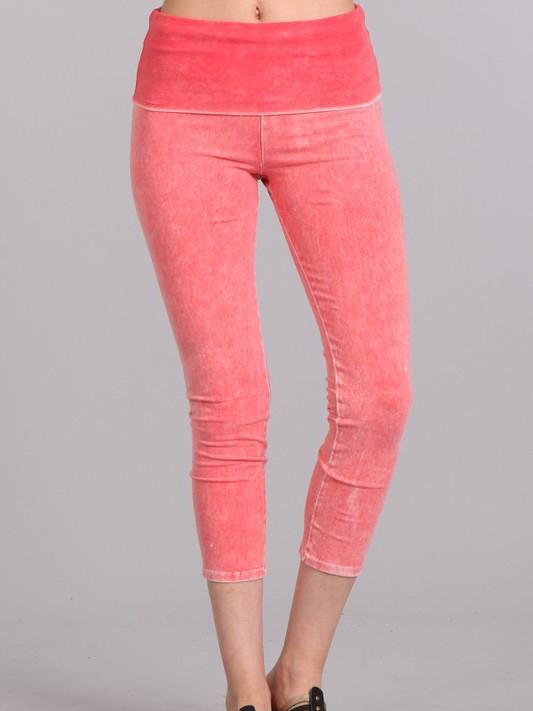 All American Cropped Skinnies - PEACHY Bottoms VibeClothingCompany