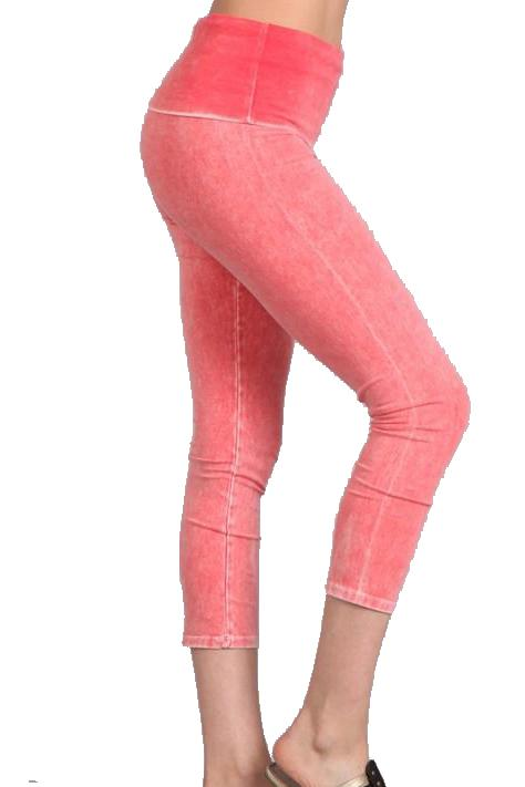 All American Cropped Skinnies - PEACHY