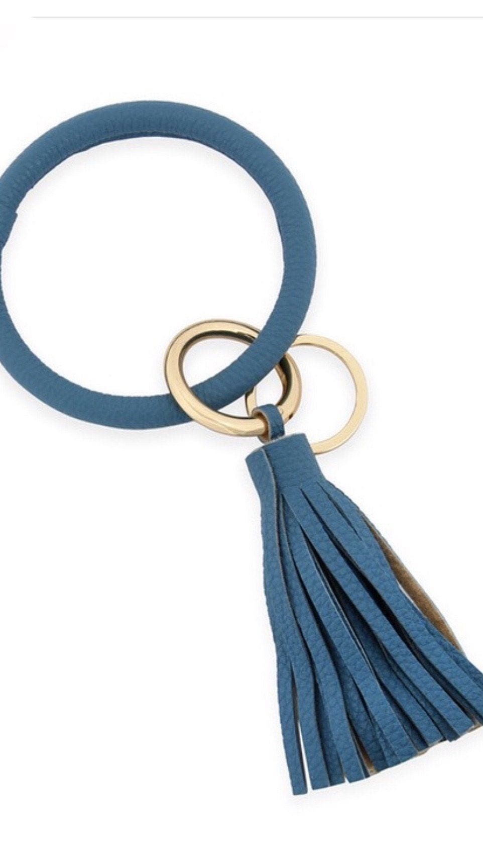 Leather Tassel Key Chain Ring