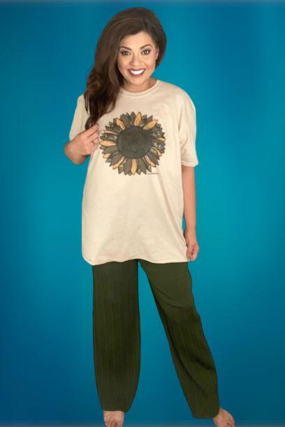Camo Sunflower Tee graphic tees Mark tee Large
