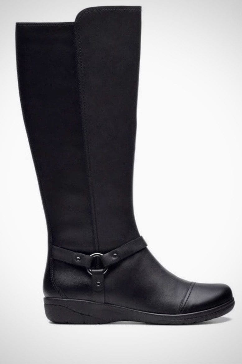 Lindie Comfort Boots - Clarks - Black Shoes and Purses verona